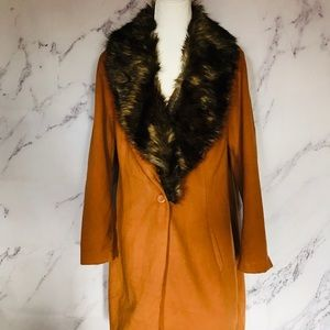 Plus size faux fur jacket/coat NWT 3X